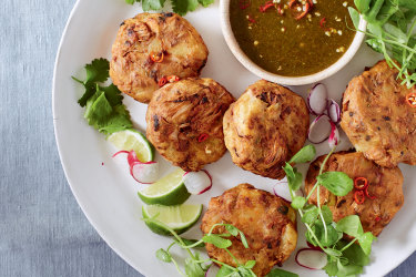 Thai no-fish cakes.
