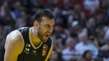 Game time: Andrew Bogut is set to take the court for Golden State on Tuesday.