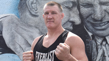 Paul Gallen in preparation for his fight against former UFC champion Mark Hunt