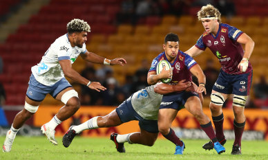 Blues beat Reds in Brisbane to go up top as Force fall to Crusaders