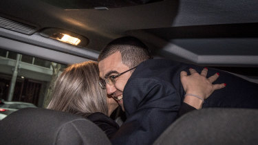 Faruk Orman after his release on Friday.