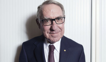 David Gonski at his Sydney office last week.
