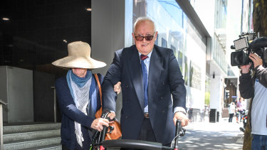 Dr Con Kyriacou and his wife leave court in January.