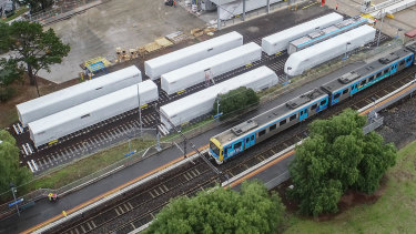 Carriages next to North Williamstown railway station, photographed in June this year.