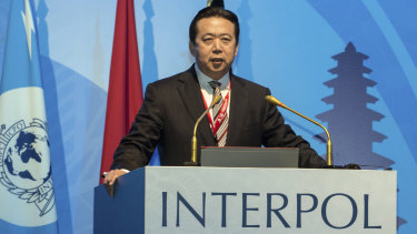 Reported missing: Interpol president Meng Hongwei.
