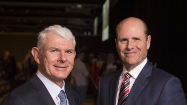 """CSL chairman Dr Brian McNamee and CEO Paul Perreault. The company says """"the protection of our propriety business information extremely seriously and will vigorously pursue our pending legal action""""."""