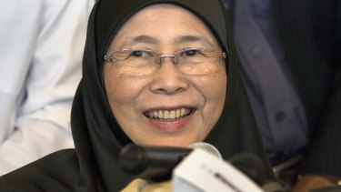 President of People's Justice Party Wan Azizah, who is also the wife of Anwar Ibrahim.