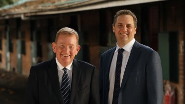 BlueBet executive chair Michael Sullivan and CEO Bill Richmond are taking a punt on the booming US wagering market.