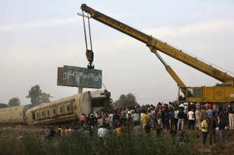At least eight train wagons ran off the railway, the provincial governor's office said in a statement.