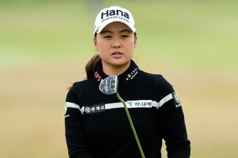 Australia's Minjee Lee is in contention at the Women's British Open.