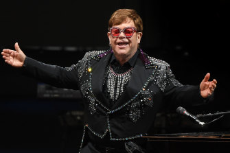 Elton John likes to keep his Sydney tennis matches private.