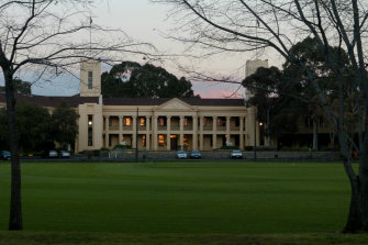 Wesley College in its grounds.