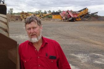 Central Highlands quarry owner Peter Lane.