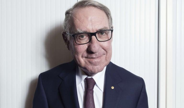 David Gonski at his Sydney office last week.