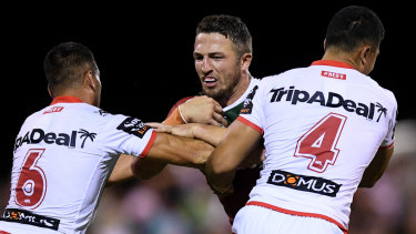 Best policy: Sam Burgess expects honesty from his new coach, Wayne Bennett.