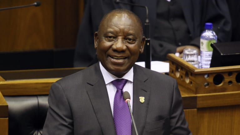 South African President Cyril Ramaphosa says the transfer of land from the country's white minority to the black majority will be handled without damaging the economy.