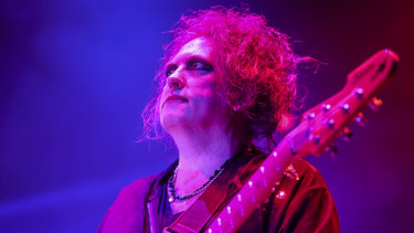 Robert Smith of The Cure performing at Rod Laver Arena in 2016.