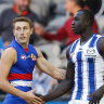 Bulldogs too good as Majak Daw makes low-key return