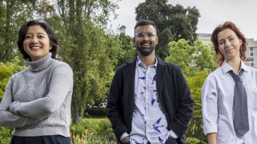 Danica Meas, Ravi Teja and Coco Dwyer are among a group of young people advising VicHealth about strategies to help their chorort recover after the mental health straing of the pandemic.