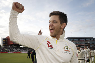 Tim Paine as seen in The Test, an eight-part documentary series about the Australian men's cricket team.