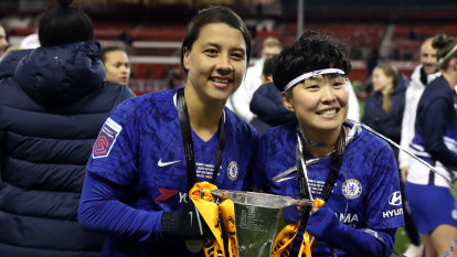 Kerr collects first silverware with Chelsea in front of record crowd