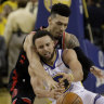 Raptors crush shorthanded Warriors for 2-1 NBA finals lead