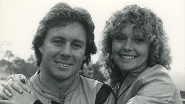 Wayne Gardner and future wife Donna Forbes in the early 1980s.