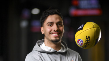 Izak Rankine's first season in the AFL has been marred by injury.