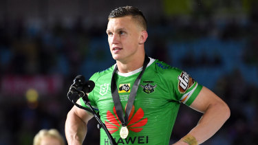 Jack Wighton was named the best player on the ground in Sunday's grand final.