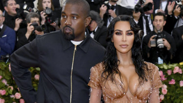 Kanye West and Kim Kardashian West at this year's Met Gala.