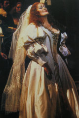 Dame Joan Sutherland in Lucia costume designed by Michael Stennett.
