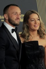 Josh Hodgson with wife Kirby Smith at the 2019 Dally Ms.