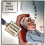 Matt Golding cartoon on Aged Care Minister Richard Colbeck.