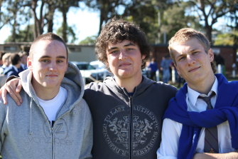 Nick, Lech and Dom, two months after the accident.