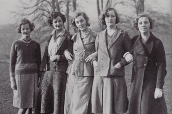 An eccentric upbringing: The Mitford sisters, in 1935, (from left) Jessica, Nancy, Diana, Unity and Pamela.