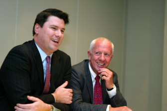 A young McLennan (then Y&R global chairman) with Alex Hamill.