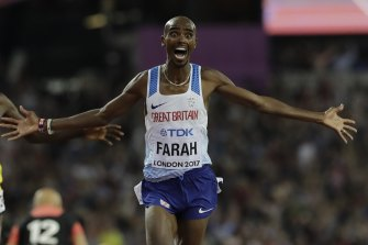 Mo Farah world athletics championships gold in 2017.