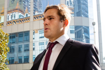 Jack de Belin, whose barrister gave his closing address in the NSW District Court on Friday.