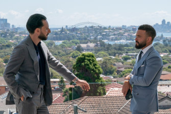 Buyers' agent Simon Cohen and real-estate agent Gavin Rubinstein in the glossy reality show Luxe Listings Sydney.