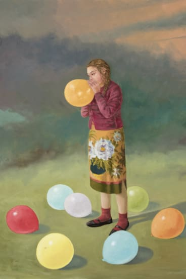 Graeme Drendel, <i>The Balloonist</i> in <i>On uneven ground</i> at Beaver Galleries.