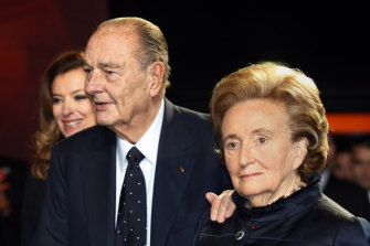 Jacques Chirac and his wife Bernadette in Paris in 2013.