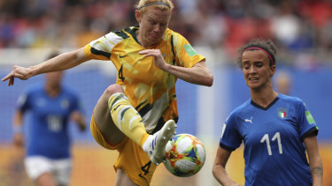 Test: Defender Clare Polkinghorne is racing the clock to face Brazil.