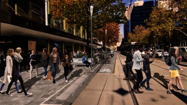 How part of Elizabeth Street could look.