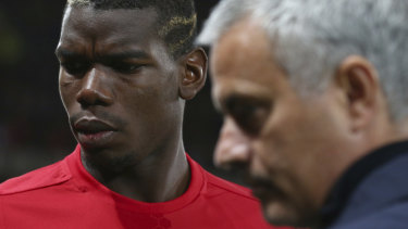 Symptomatic relationship: Paul Pogba with Jose Mourinho. The French star's relationship with the manager had deteriorated alarmingly.