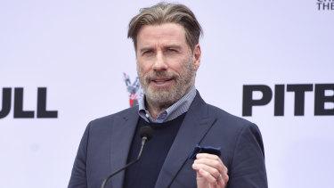 John Travolta's hair in December 2018.