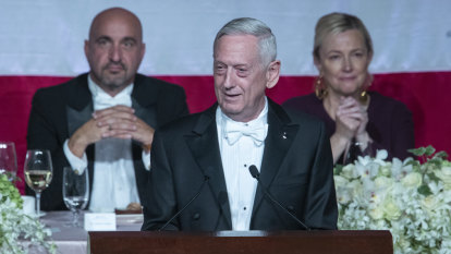 Trump 'earned his spurs in a letter from a doctor', Mattis jokes at New York gala
