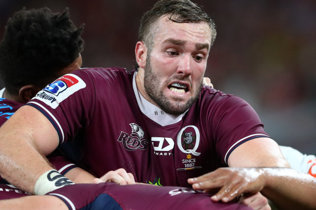 Rising Wallaby Izack Rodda is one of three players to part ways with the Queensland Reds.
