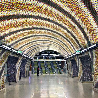 Szent Gellert Ter metro station, Budapest.