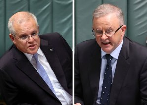 """Both Scott Morrison and Anthony Albanese have made """"off-budget"""" spending a feature of their budget week pitches."""