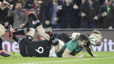 Direct approach: Ireland have beaten the All Blacks in two out of their last three clashes.